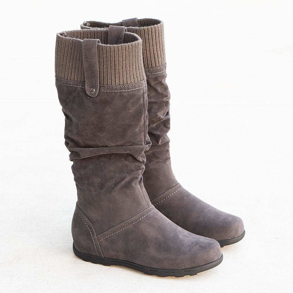 Women's Comfy Stretch Boots - Refresh - Charcoal / 5