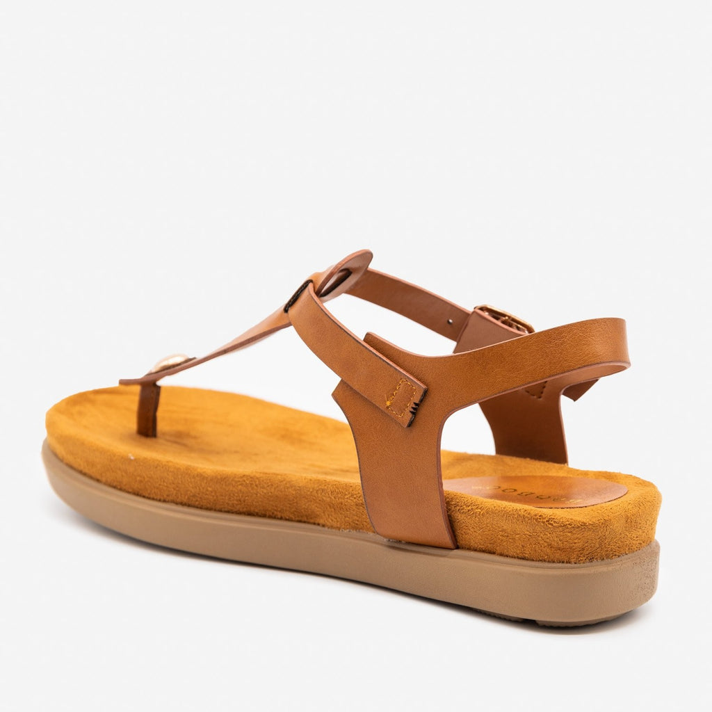 Women's Comfy Thong-Toed Fashion Sandals - Bamboo Shoes