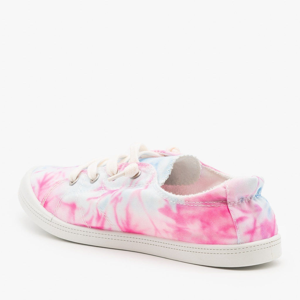 Womens Comfy Tie Dye Sneakers - Forever