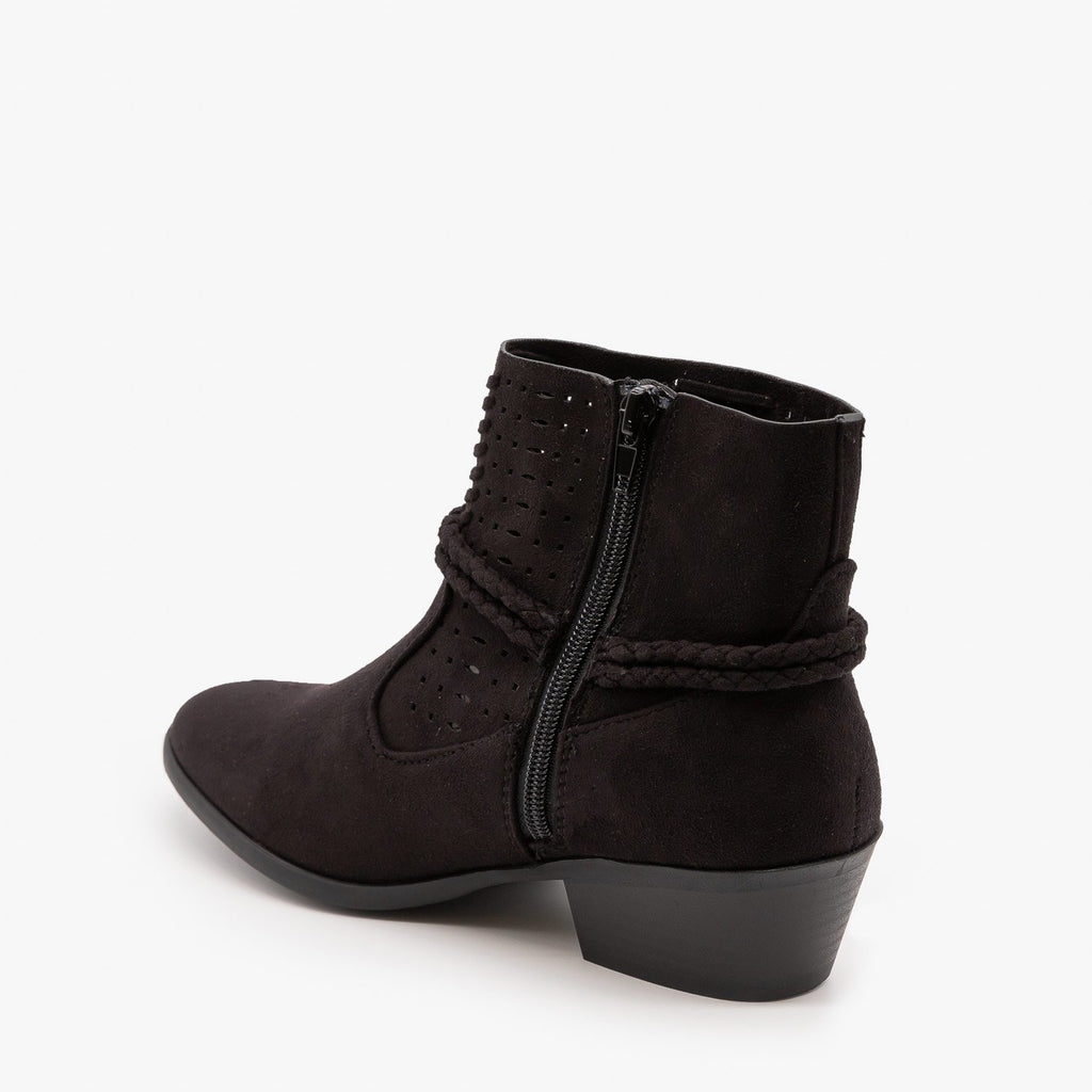 Womens Cord Wrap Around Ankle Bootie - Soda Shoes