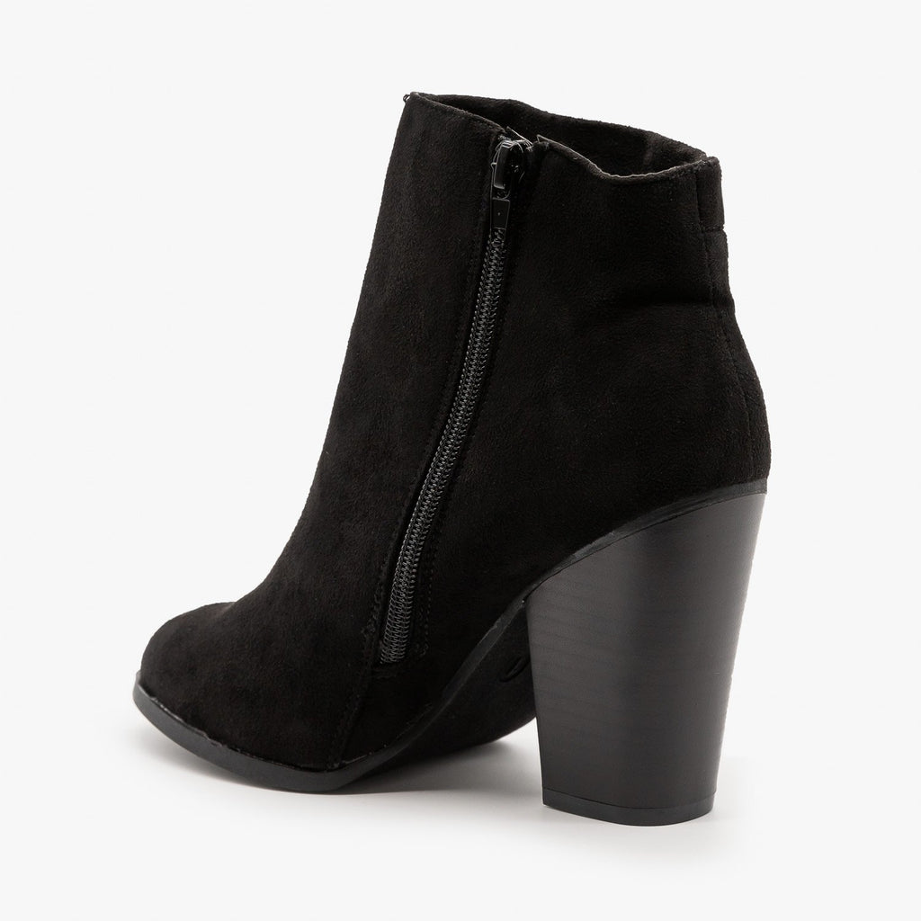 Womens Corset Detailing Booties - Bonnibel