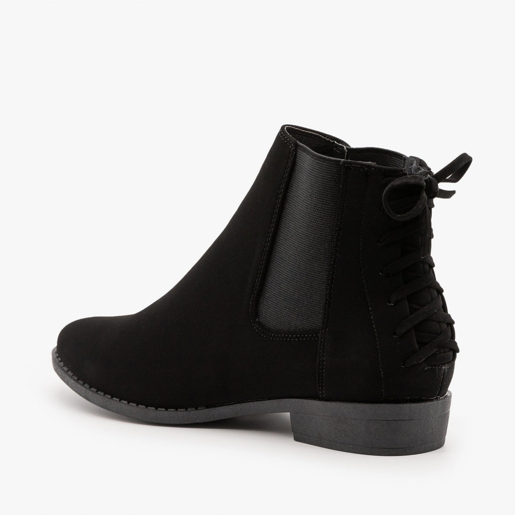 Womens Corset Heel Booties - Top Moda