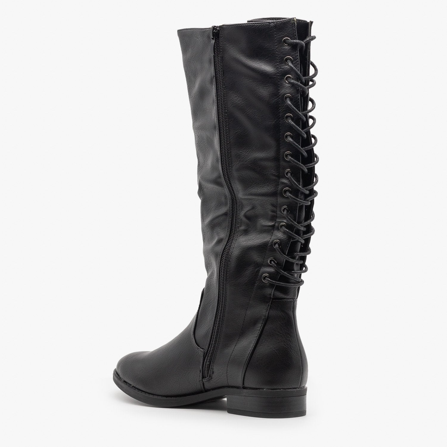 Corset Laced Riding Boots - Fashion
