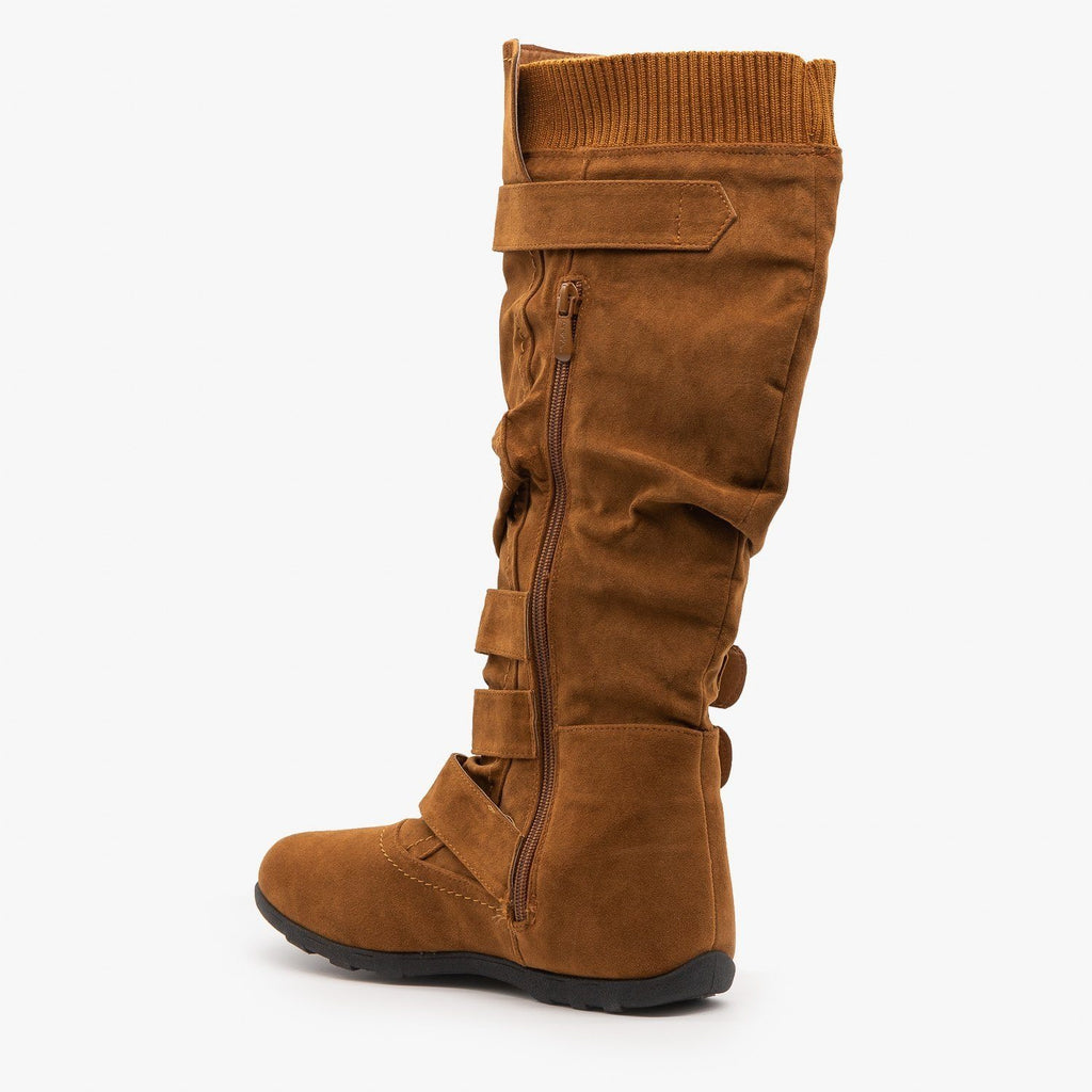Womens Cozy Buckled Boots - Anna Shoes