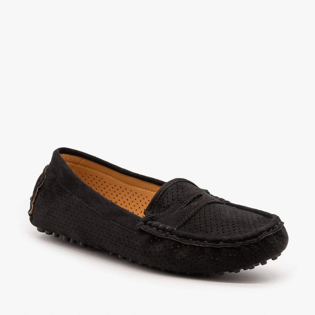 Womens Cozy Pinhole Loafer Flats - Bella Marie
