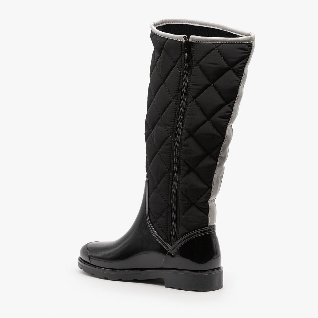 Womens Cozy Quilted Rain Boots - Weeboo