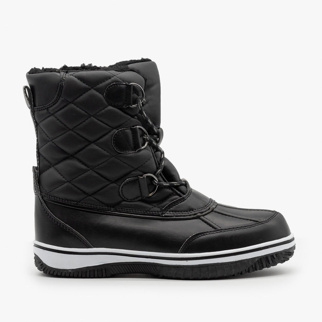 Womens Cozy Snow Boots - Nature Breeze - Black / 5