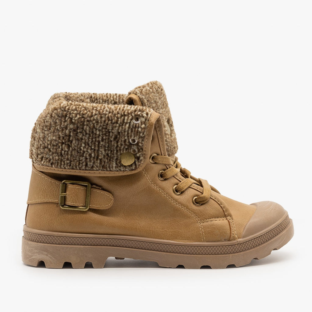 Womens Cozy Sweater Sneaker Boots - Refresh - Taupe / 5