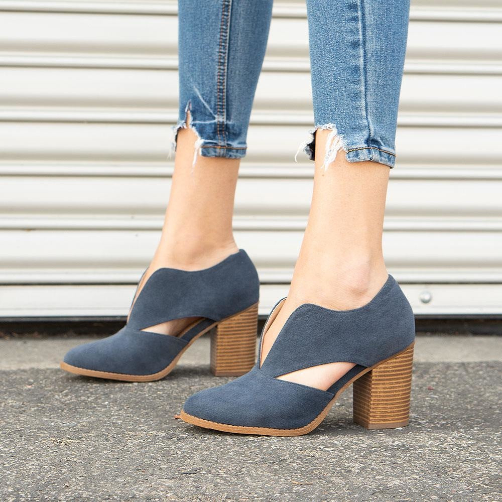 Women's Creative Cut-Out Heel - Mata - Navy / 5