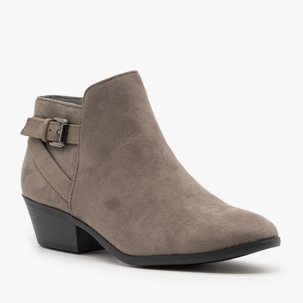 Womens Criss Cross Buckle Bootie - Soda Shoes