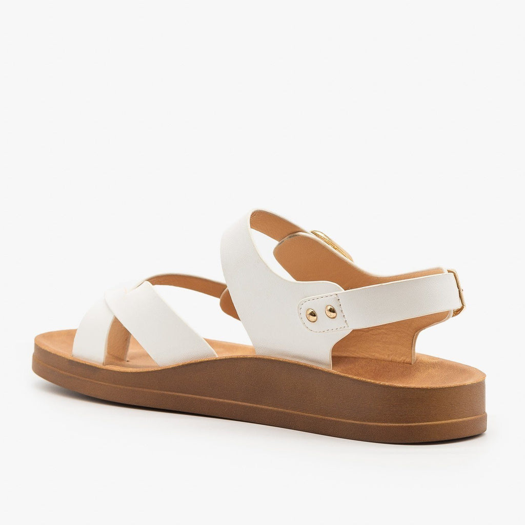 Womens Criss Cross Toe Hold Sandals - Forever
