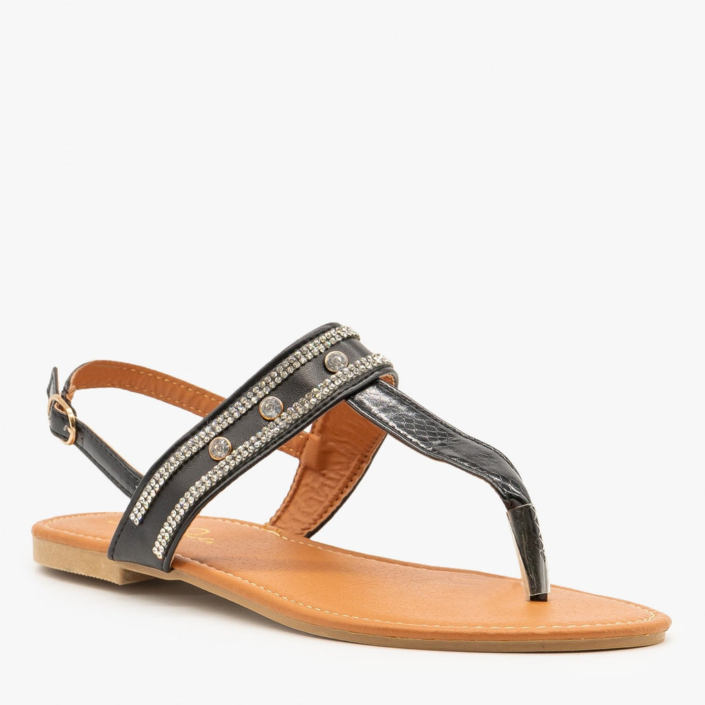 Womens Crystal Studded Sandals - Soho Girls