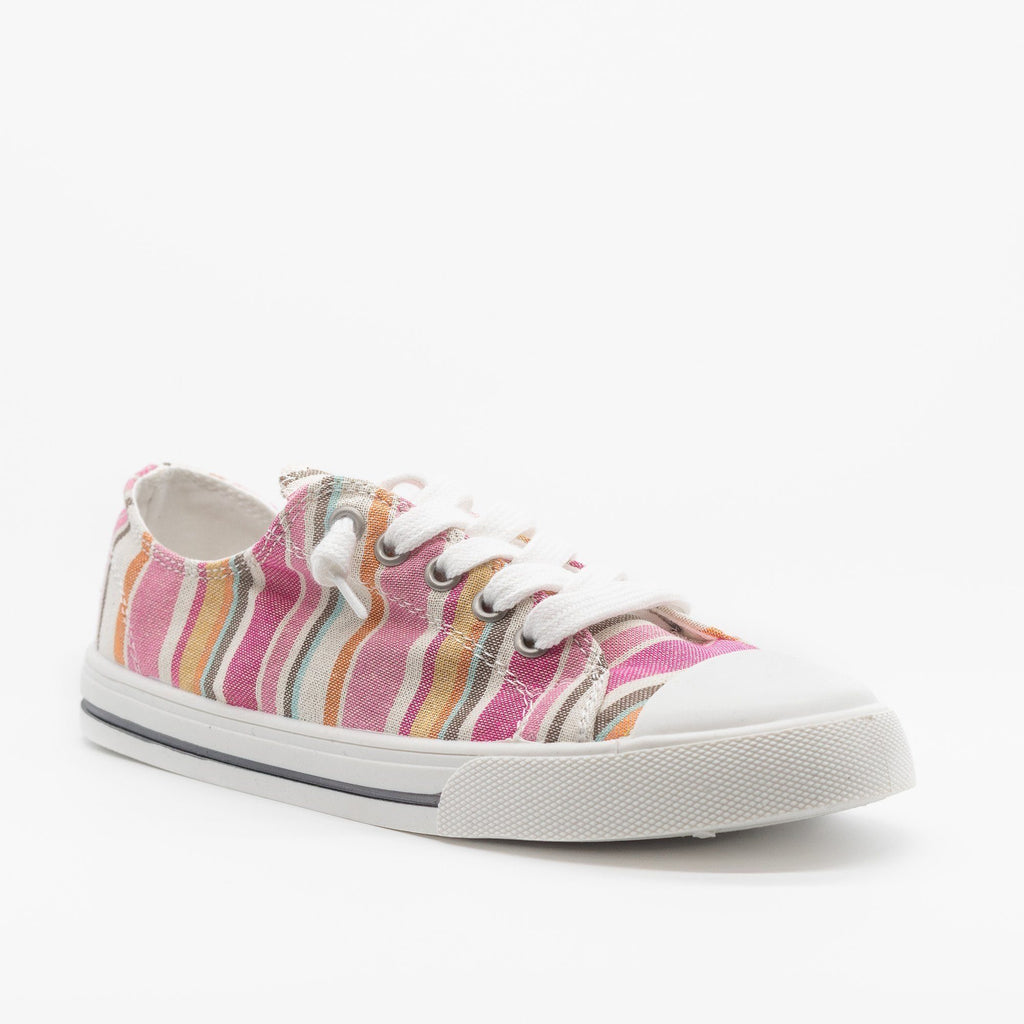 Womens Cute and Sporty Comfort Sneakers - Forever - Multi Pink / 5