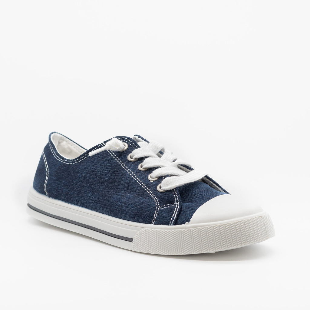 Womens Cute and Sporty Comfort Sneakers - Forever - Navy / 5