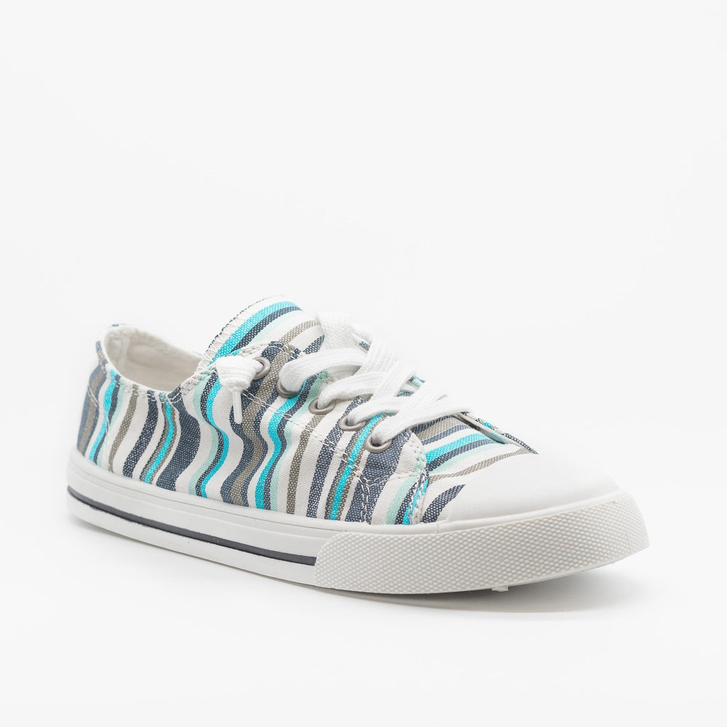 Womens Cute and Sporty Comfort Sneakers - Forever - Multi Blue / 5