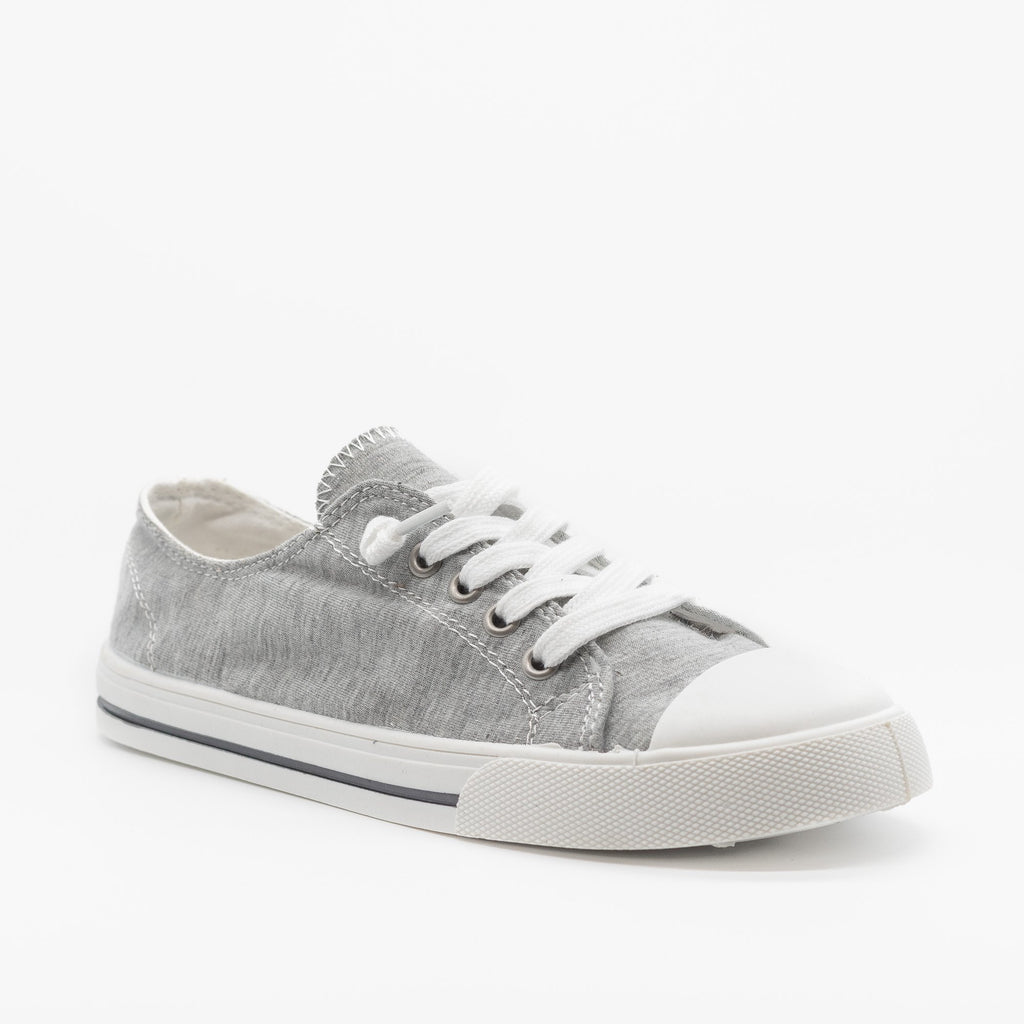 Womens Cute and Sporty Comfort Sneakers - Forever - Light Gray / 5