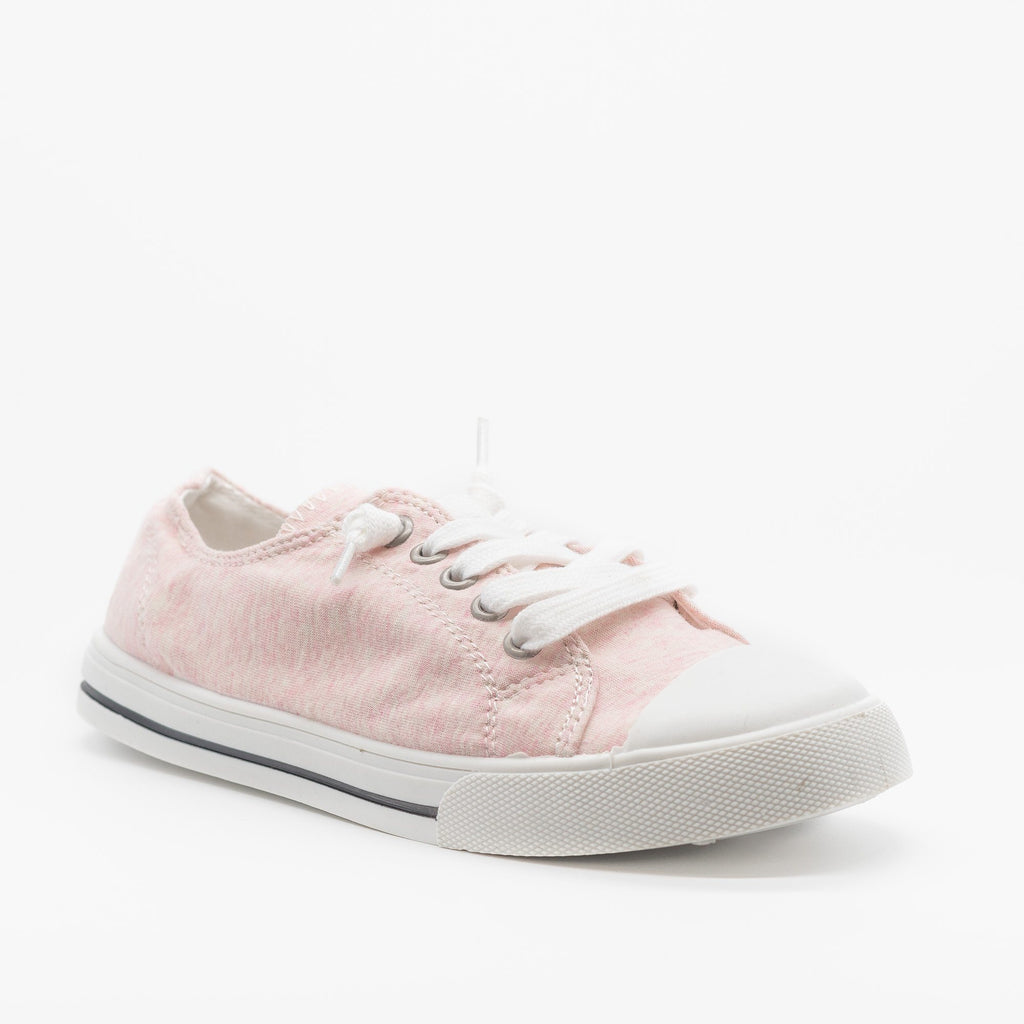 Womens Cute and Sporty Comfort Sneakers - Forever - Pink / 5