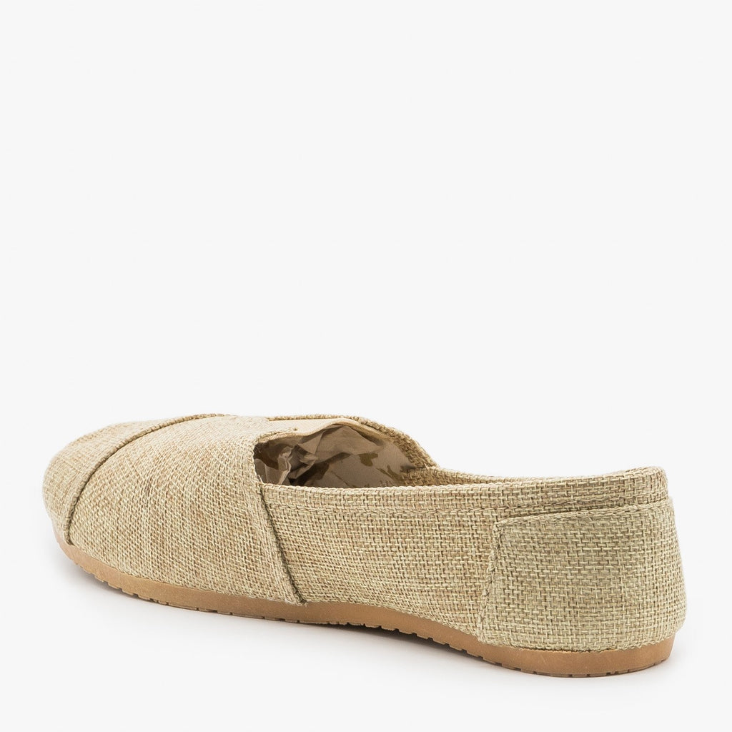 Womens Cute Canvas Slip On Flats - Refresh