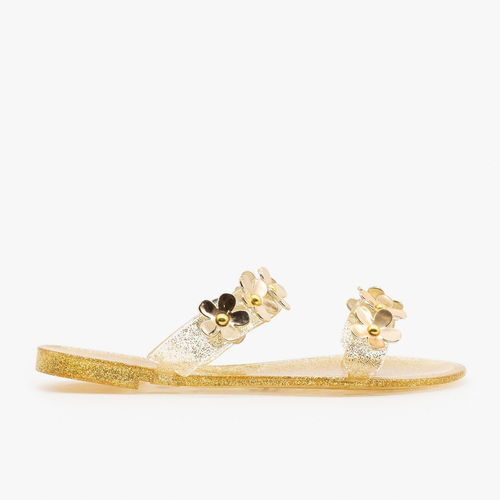 Womens Cute Flower Jelly Slides - Bamboo Shoes