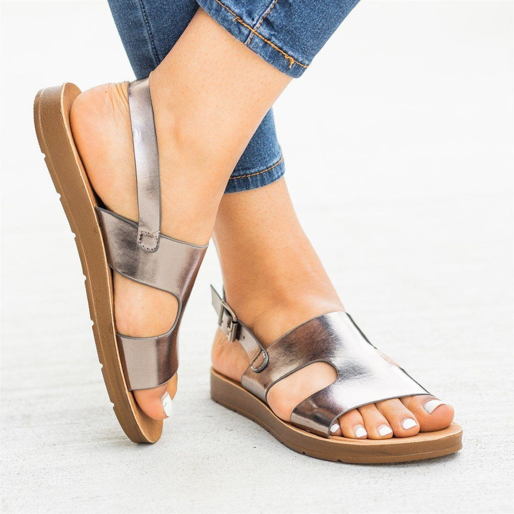 Womens Cutout Fashion Sandals - Refresh