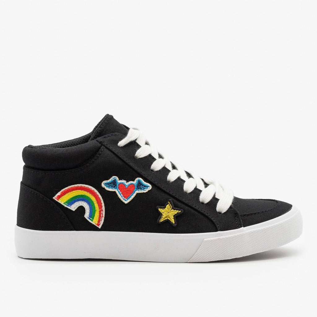 Womens Decal Fashion Sneakers - Soda Shoes