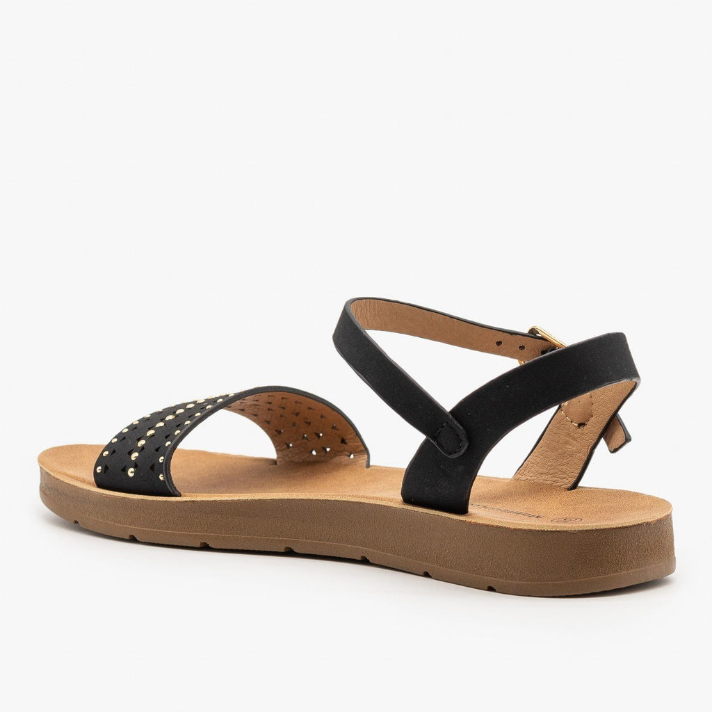 Womens Delicate Studded Sandals - Montecucco