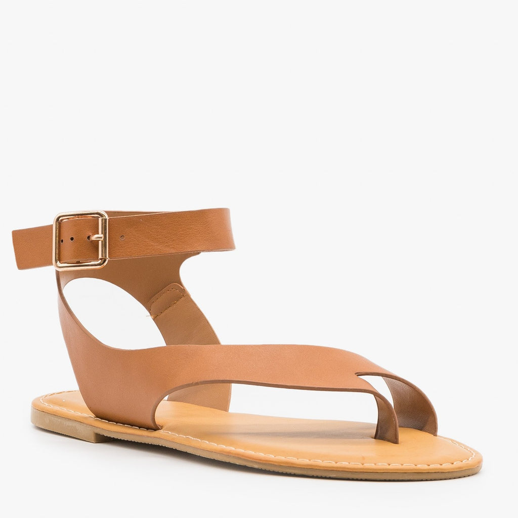 Womens Diagonal Strap Sandals - Bamboo Shoes