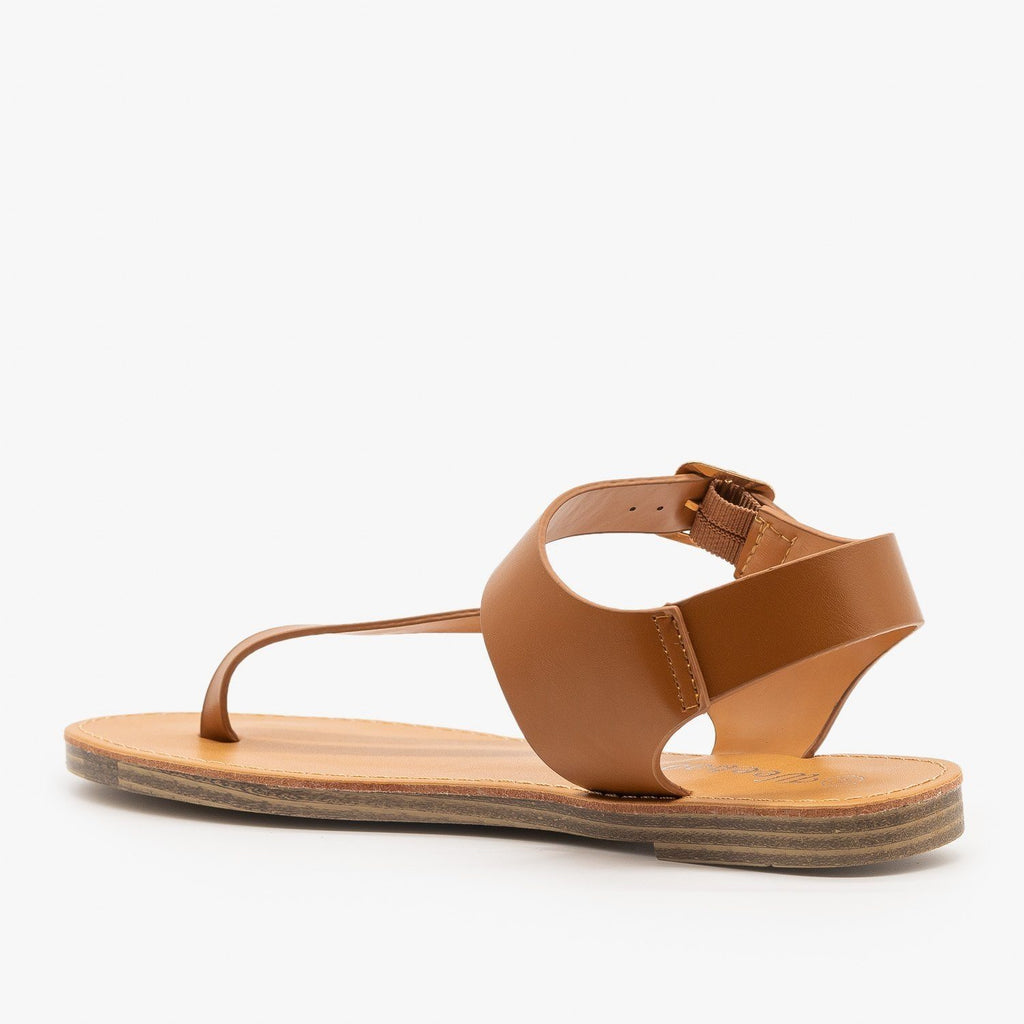 Womens Diagonal Strap Thong-Toed Sandals - Weeboo