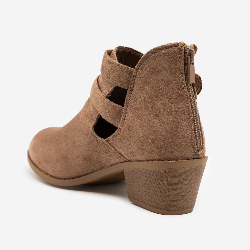 Women's Double Buckle Low Booties - Forever