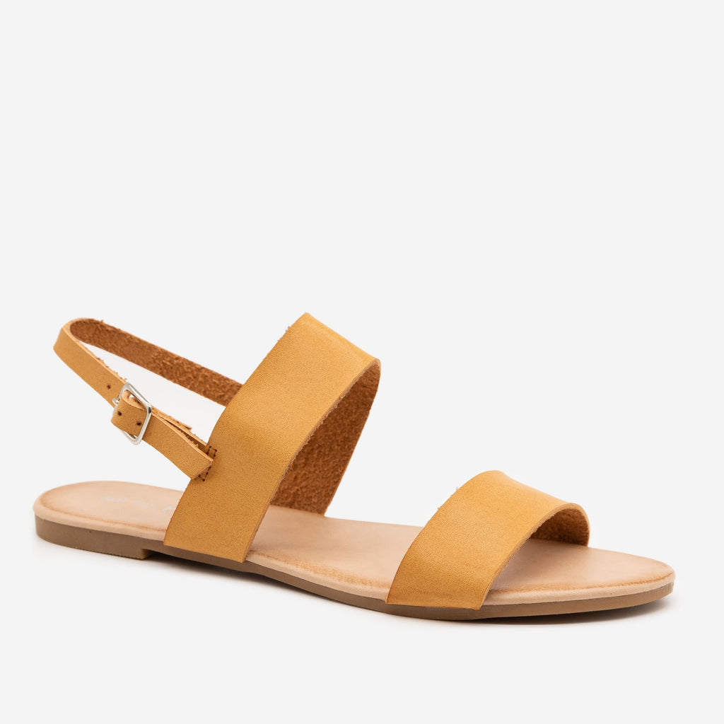 Women's Double Strap Sling-back Sandal - Via Pinky - Camel / 5