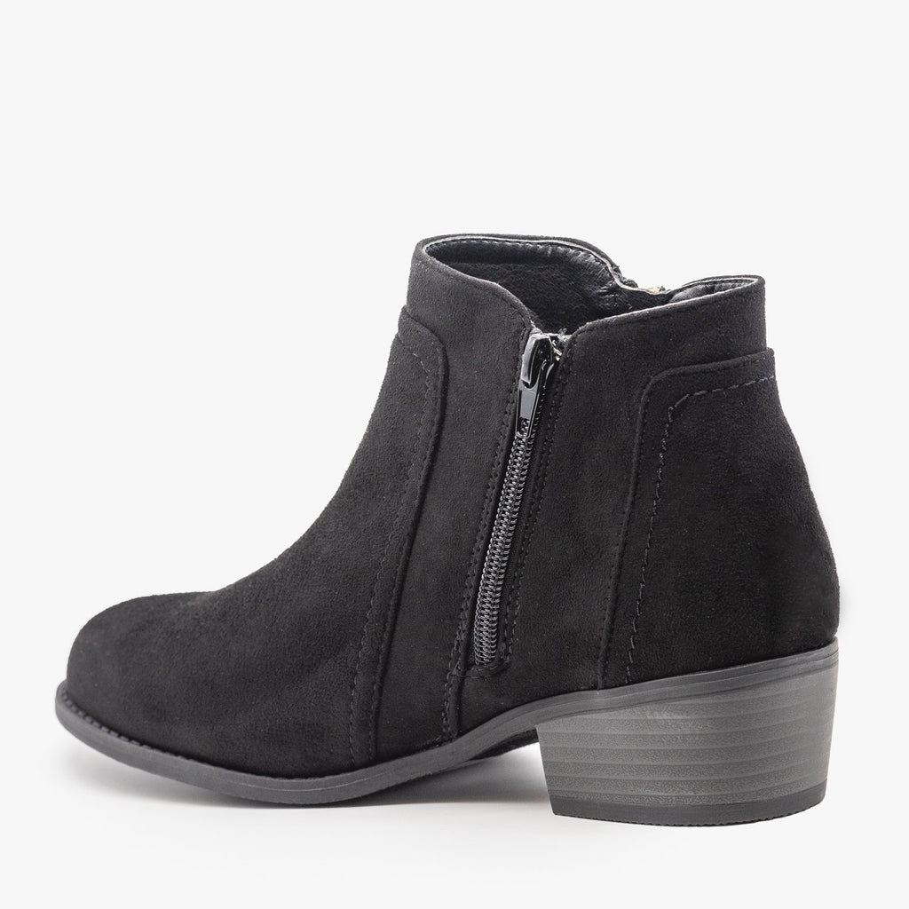 Womens Double Zipper Ankle Boots - Refresh
