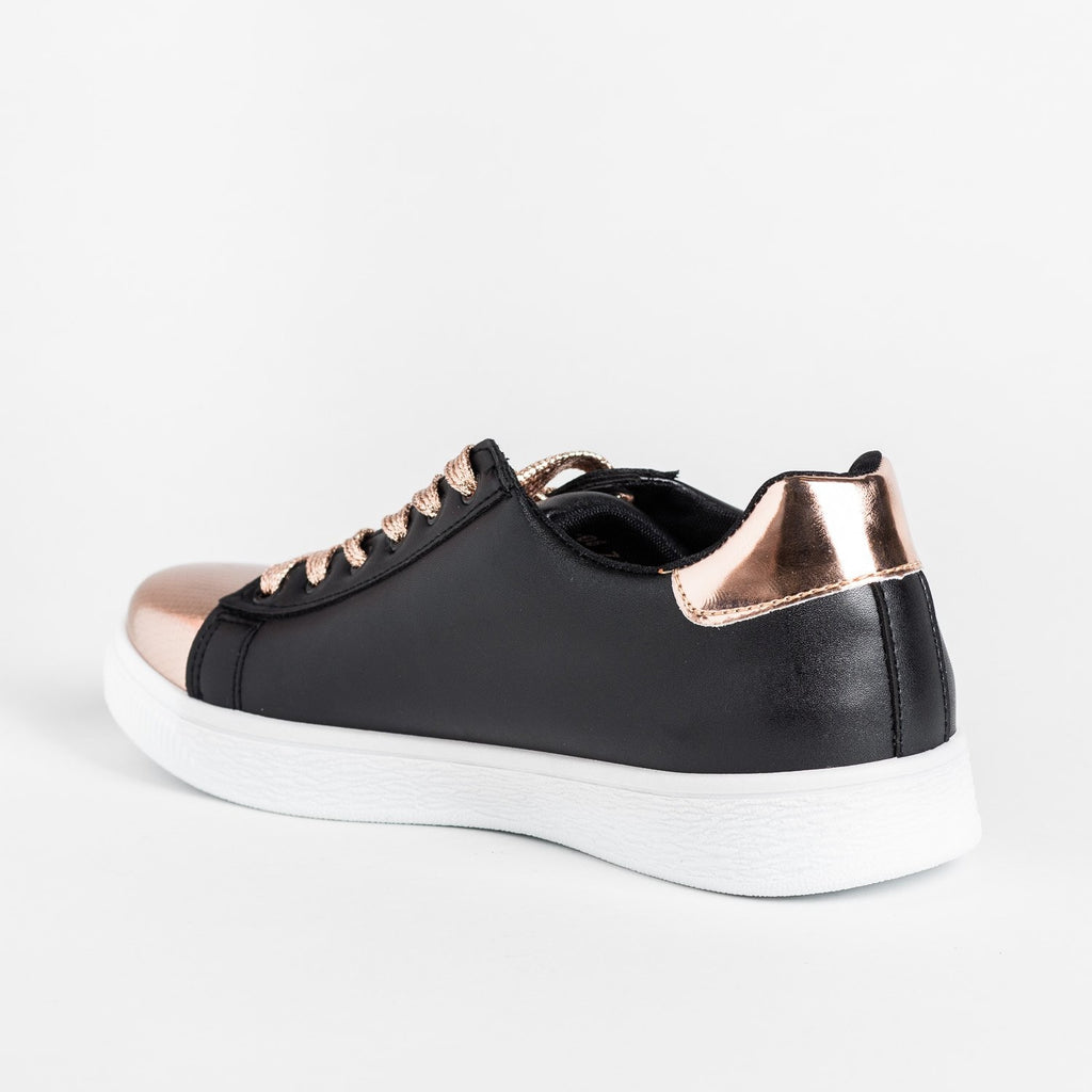 Womens Edgy Metallic Sneakers - Refresh
