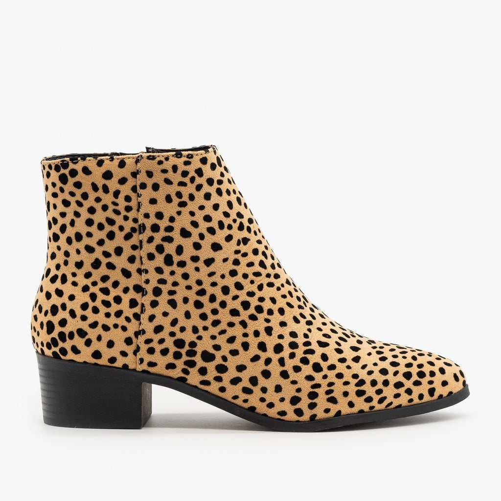 Womens Edgy Pointed Toe Fashion Booties - City Classified Shoes