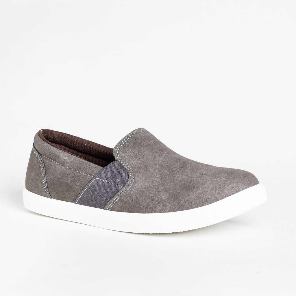 Womens Edgy Slip-On Fashion Sneakers - Mata - Gray / 5