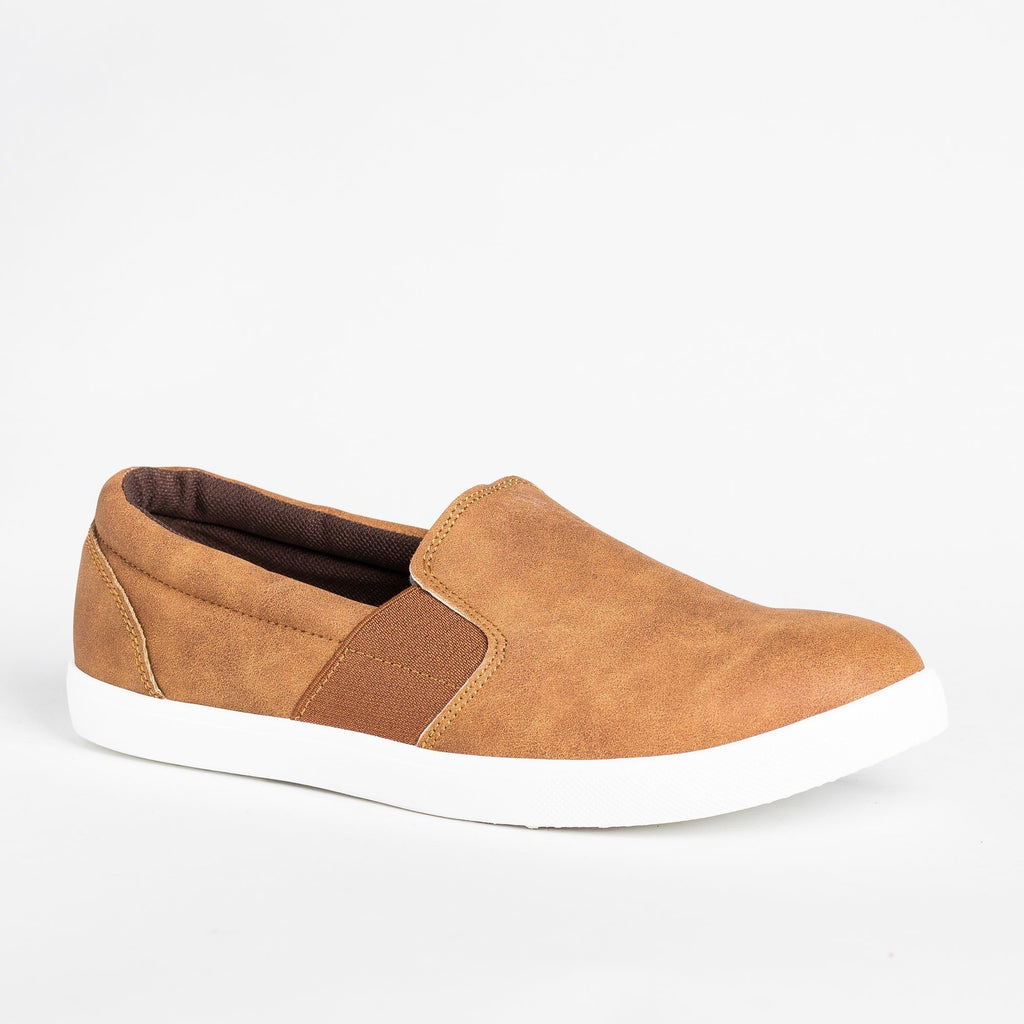 Womens Edgy Slip-On Fashion Sneakers - Mata - Tan / 5