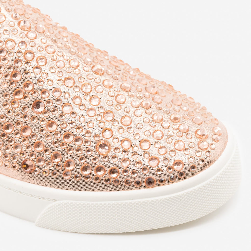 Women's Embellished Slip-On Fashion Sneakers - Soda Shoes