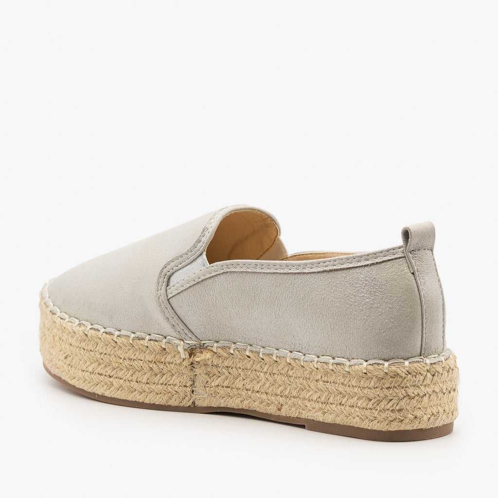 Womens Espadrille Flatform Sneakers - AMS Shoes