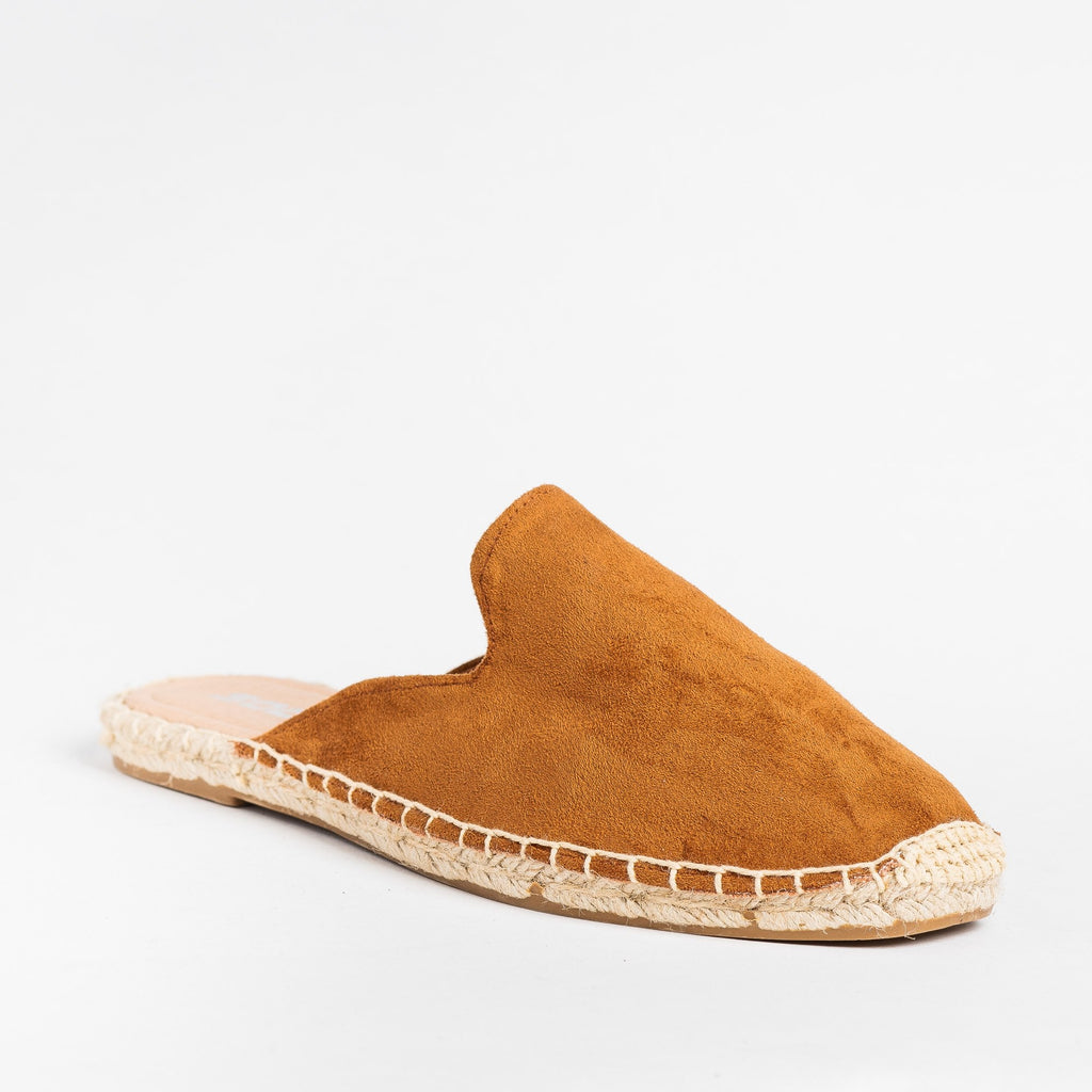 Womens Espadrille Mule Flats - Soda Shoes - Hazel / 5