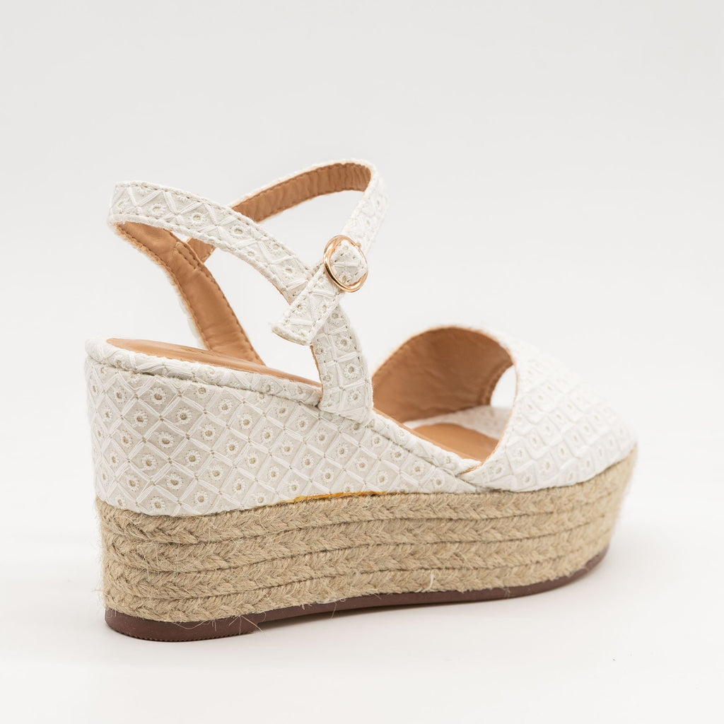 Women's Espadrille Slingback Wedges - Bamboo Shoes