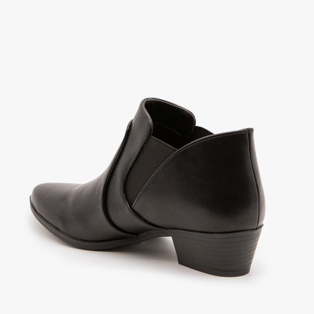 Womens Essential Ankle Booties - Qupid Shoes