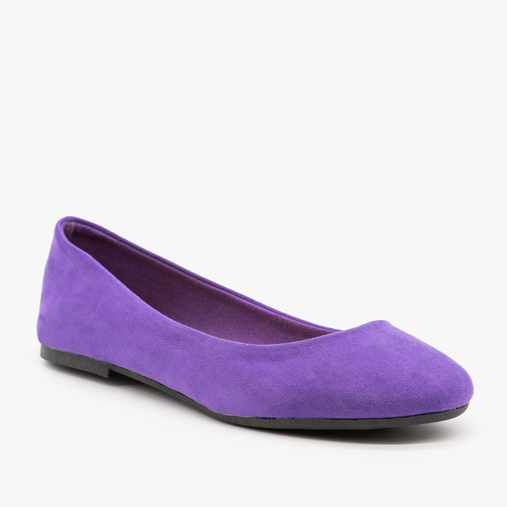 Womens Essential Ballet Flats - Bamboo Shoes - Ultra Violet / 5