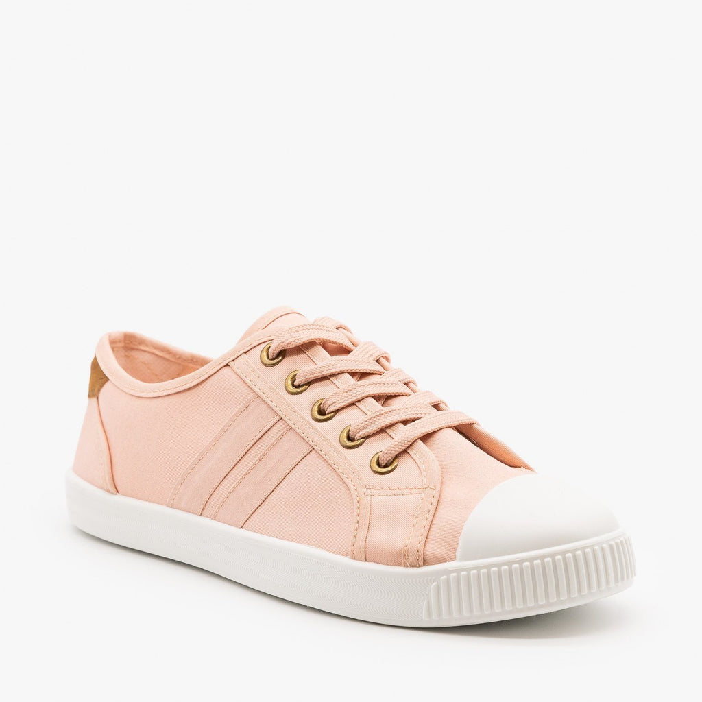 Womens Essential Colorful Sneakers - Top Moda - Blush / 5