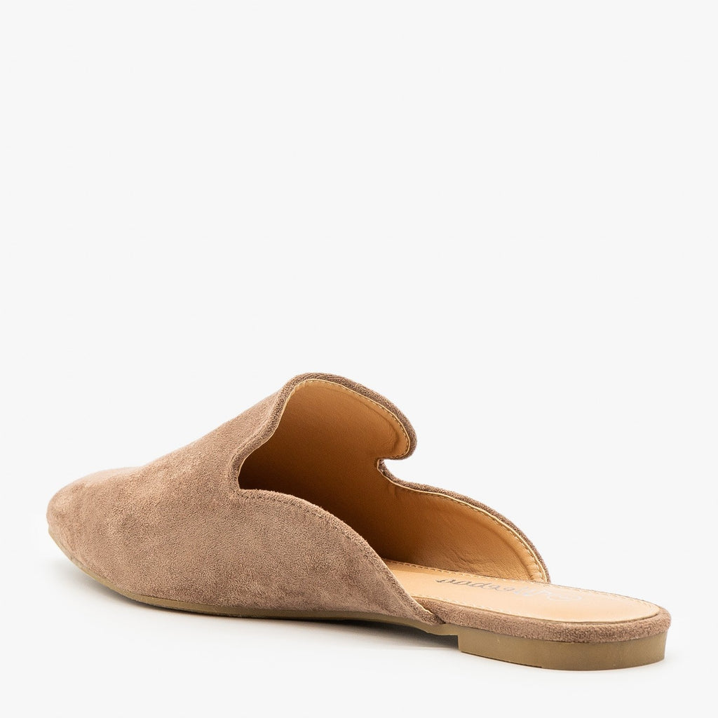 Womens Essential Faux Suede Mules - Weeboo