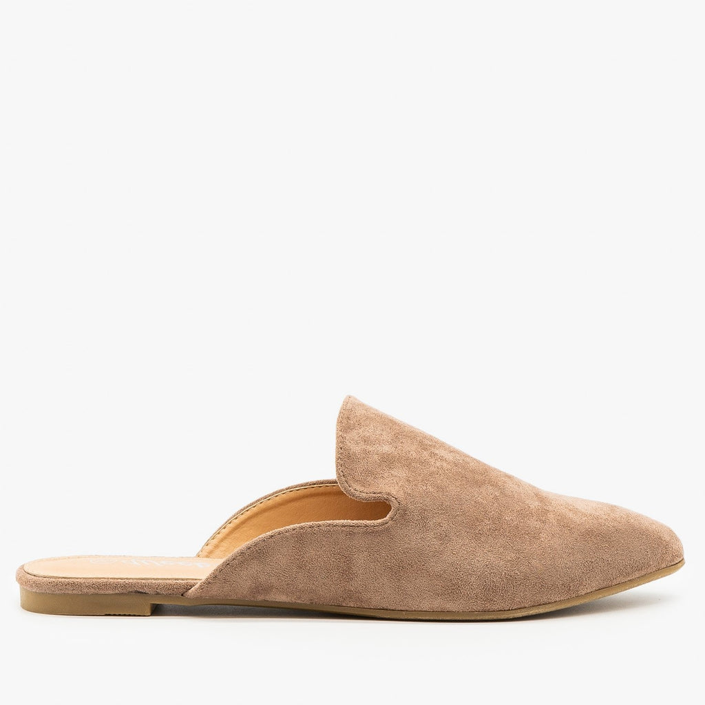 Womens Essential Faux Suede Mules - Weeboo - Taupe / 5