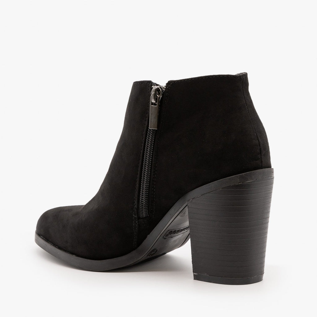 Womens Essential Heeled Ankle Booties - Bamboo Shoes