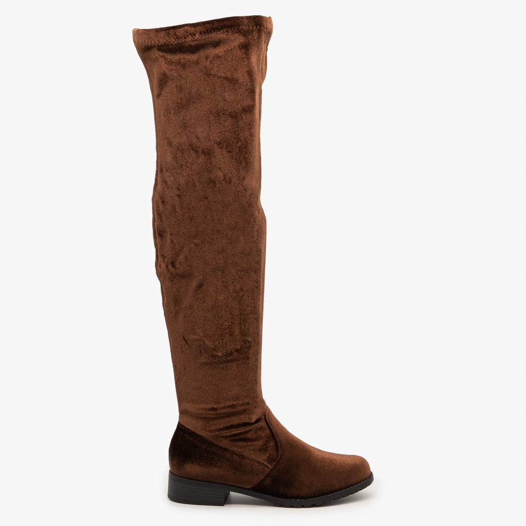 Womens Essential Over-the-Knee Boots - Forever - Brown / 5