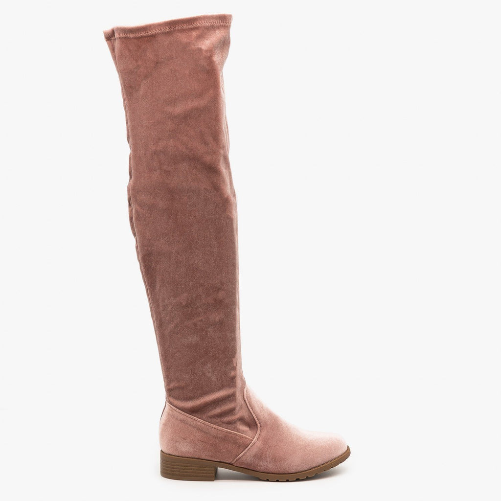 Womens Essential Over-the-Knee Boots - Forever - Blush / 5
