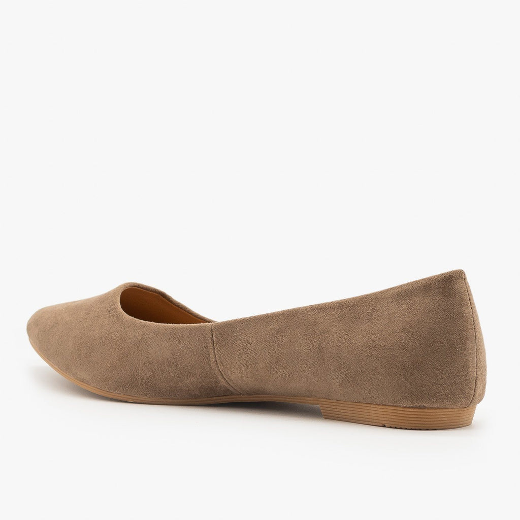 Womens Essential Pointed Toe Ballet Flats - Bella Marie