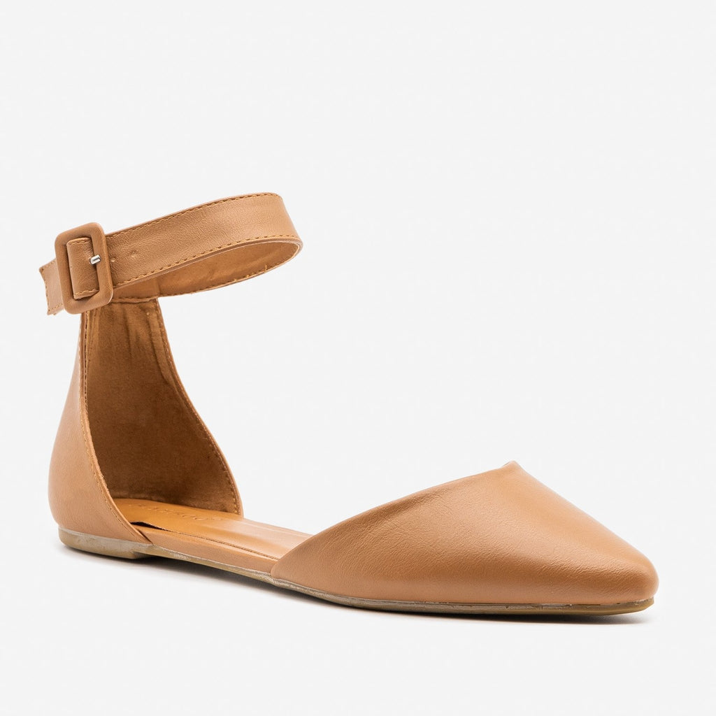 Women's Essential Pointed Toe d'Orsay Flats - Bamboo Shoes