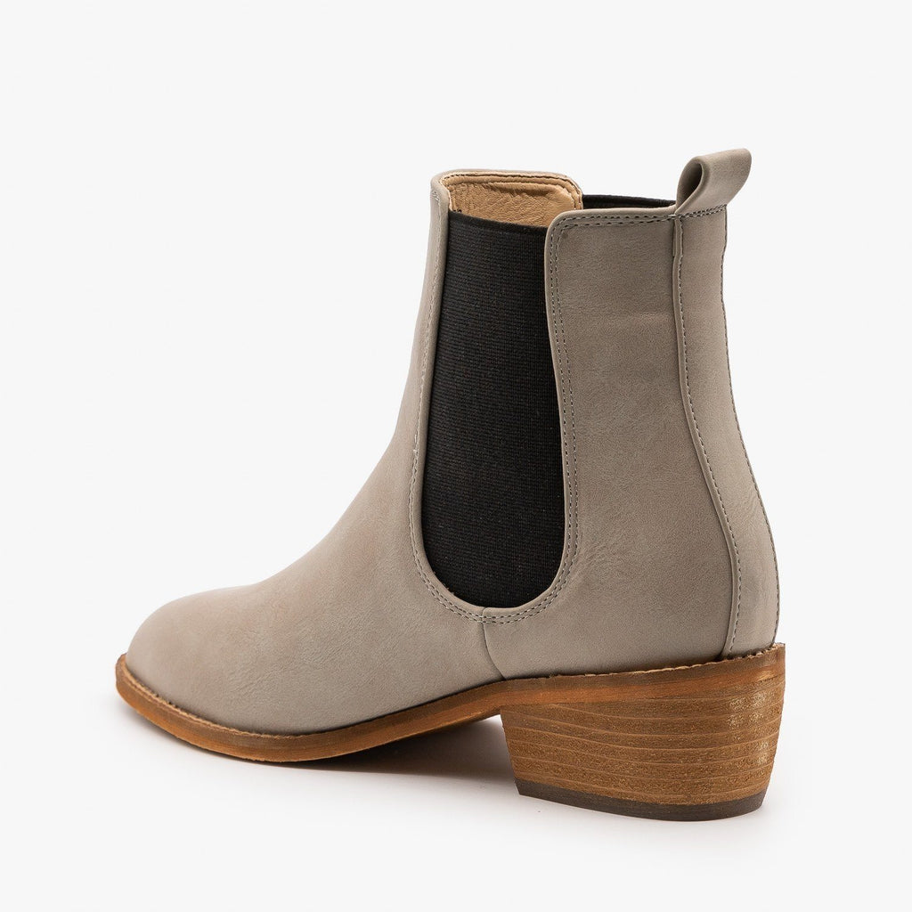 Womens Essential Slip On Ankle Booties - ARider Girl